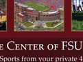 Ad in the FSU Game Time Magazine for University Center Apartments